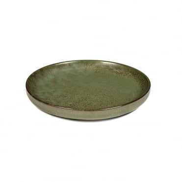 Surface Olive Plate Camo Green 16x2cm(h)
