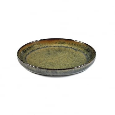 Surface Olive Plate Indi Grey 16x2cm(h)