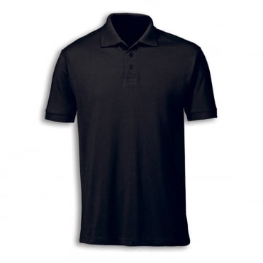 Unisex Black Polo Shirt - L