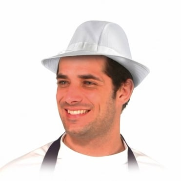 Unisex White Trilby- Small
